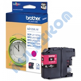 Brother Tusz LC125XL MAGENTA 1200s -  MFCJ4510DW