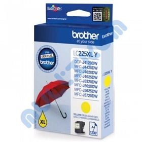 Brother inkoust yellow, 1200 str - LC225XLY